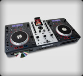 basic dj twin cd player mixer hire